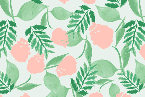 pop fern fabric by audie_rose on Spoonflower - custom fabric