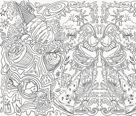 Summer Food Frenzy fabric by macaromi on Spoonflower - custom fabric