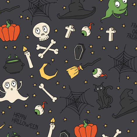Halloween fabric by krolja on Spoonflower - custom fabric