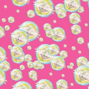Abstract Bubbles Pink BG