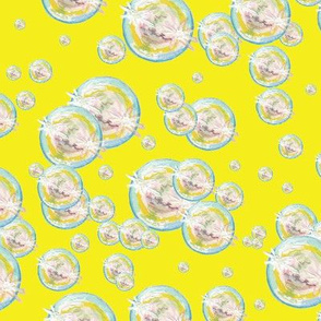 Abstract Bubbles Yellow BG