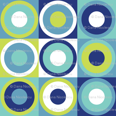 Retro circles in modern colors