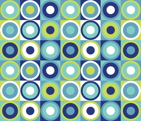 Retro circles in modern colors fabric by danadu on Spoonflower - custom fabric