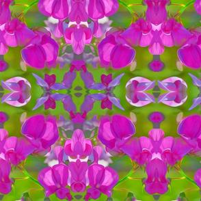 Sweet Pea Flower mirrored