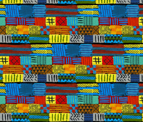 a flock of colors fabric by jerseymurmurs on Spoonflower - custom fabric