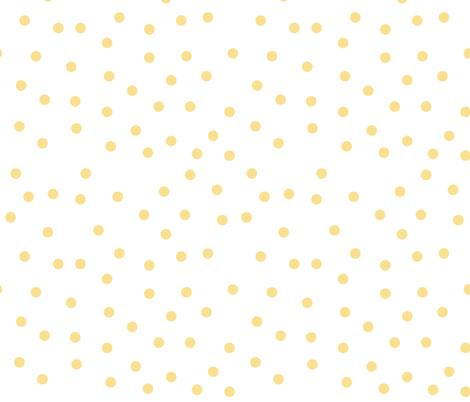 Love 2 Travel - Coordinate Dots yellow white fabric by ewa_brzozowska on Spoonflower - custom fabric