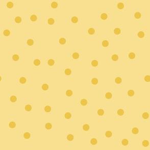 Love 2 Travel - coordinate dots yellow
