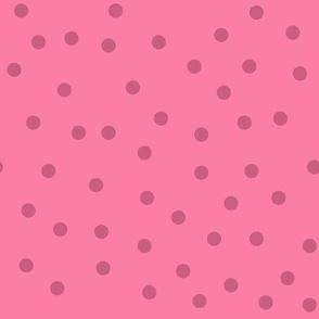 Love 2 Travel - coordinate dots pink