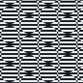 stripey circles are the new triangles black and white