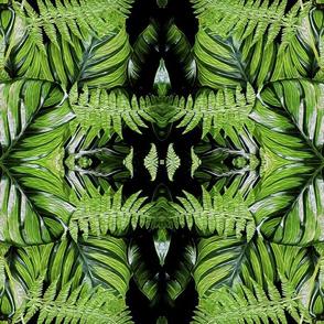 Emerald Forest Leaves & Ferns Pattern