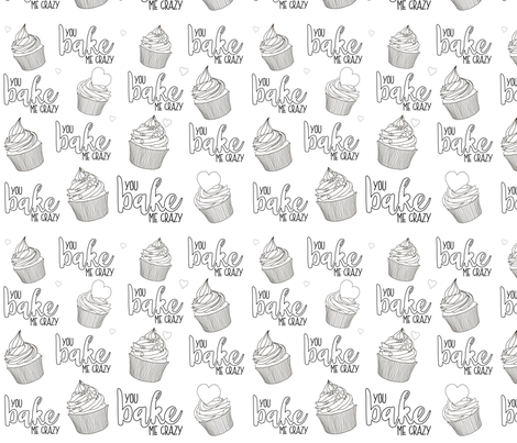 You Bake Me Crazy fabric by alvalumos on Spoonflower - custom fabric