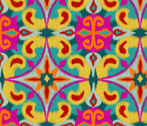 Colourful Ikat (large) fabric by new_branch_studio on Spoonflower - custom fabric