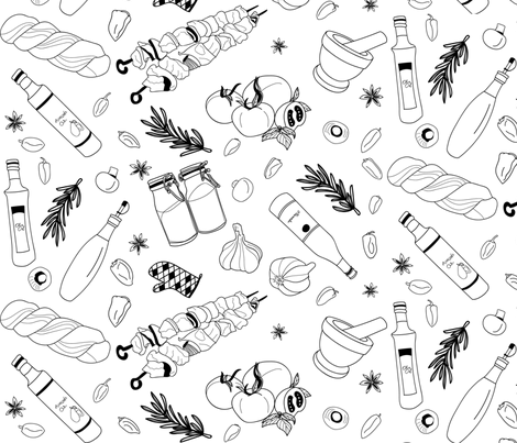 Cooking  fabric by evy_v_design on Spoonflower - custom fabric