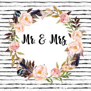 """54""""x72"""" Mr. & Mrs."""
