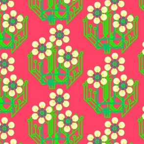 Bright as a daisy - watermelon pink medium