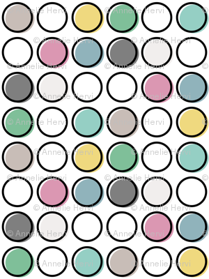 Polka Pop Pastel Outline