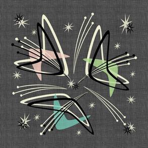 Boomerangs & Starbursts on  Fabric Texture