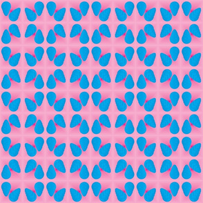 Pink with Blue Cones