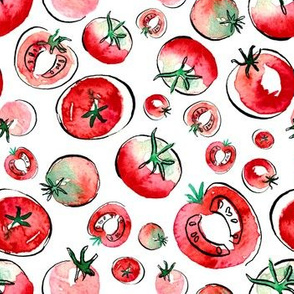 Watercolor Tomatos