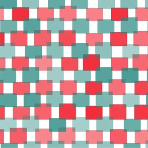 Hash Plaid Red and Teal