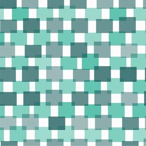 Hash Plaid Teal on Teal