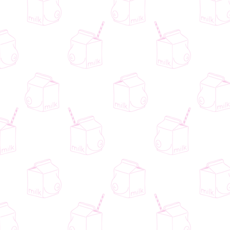 milk - monochrome -baby pink fabric by booboo_collective on Spoonflower - custom fabric