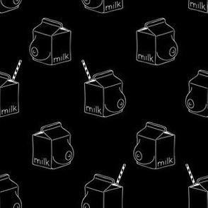 milk - monochrome -black