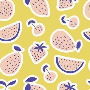 fruity on yellow