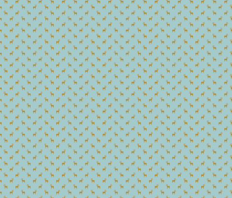 tiny deer fabric by littlefoxhill on Spoonflower - custom fabric