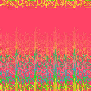 Rainbow circuits  - watermelon  pink
