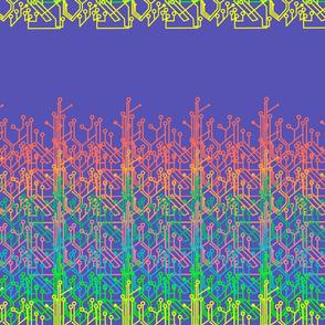 Rainbow circuits - electric blue