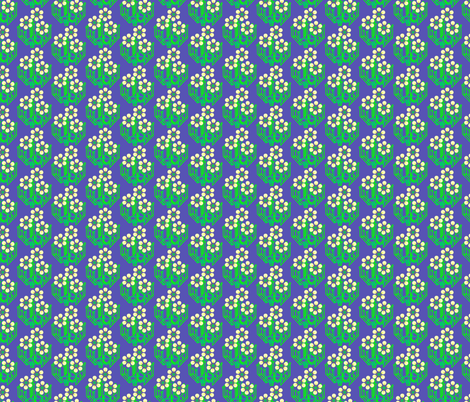 Bright as a daisy - blue medium fabric by dustydiscoball on Spoonflower - custom fabric