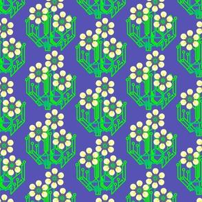 Bright as a daisy - blue medium
