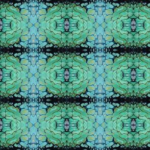 Green blue abstract art