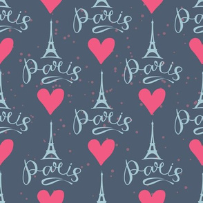 Eiffel Towel and heart