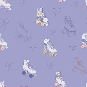Roller Skates with Lace Bows