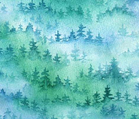 Foggy Forest fabric by svetlana_prikhnenko on Spoonflower - custom fabric
