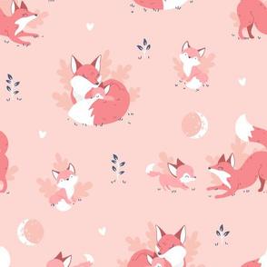 Fox Mama - peach