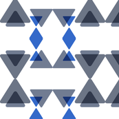 triangles transparency-blue