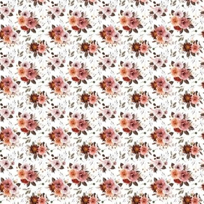 Vintage Roses Edition 1 || Smaller || Floral Burgundy Apricot Pink White