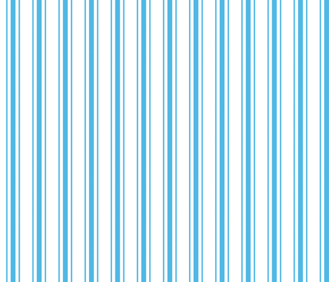 Oktoberfest Bavarian Blue and White Mattress Ticking fabric by paper_and_frill on Spoonflower - custom fabric