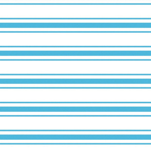 Oktoberfest Bavarian Blue and White Large Mattress Ticking Stripes