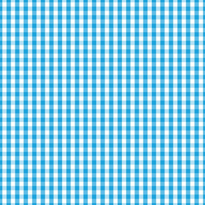 Oktoberfest Bavarian Blue and White Small Gingham Check