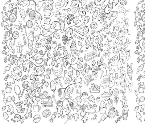 Food Frenzy fabric by lornastannardart on Spoonflower - custom fabric