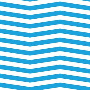 Oktoberfest Bavarian Blue and White Chevron Stripes