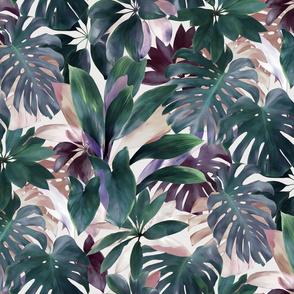 Tropical Emerald Jungle in cool tones