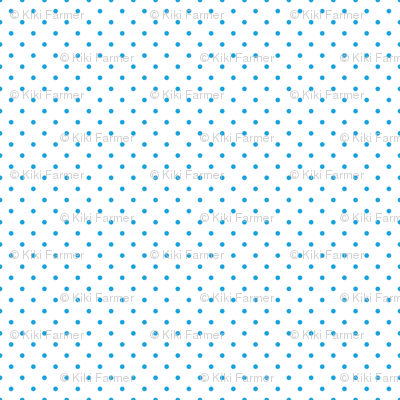 Mini Oktoberfest Bavarian Blue Polkadots on White
