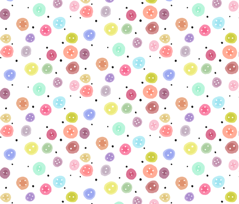 Rainbow Buttons fabric by how-store on Spoonflower - custom fabric