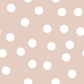 "1.5"" polka dot scatter - white on blush"