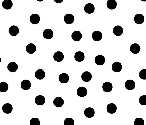 "1.5"" polka dot scatter - black on white fabric by littlearrowdesign on Spoonflower - custom fabric"